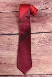Pánska kravata s pásikmi - červeno-bordová (š. 6 cm)