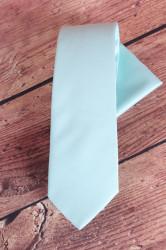 Pánska kravata s vreckovkami (š. 7 cm) - bledozelená