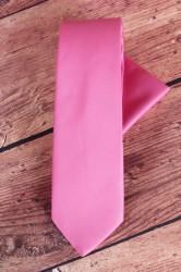 Pánska kravata s vreckovkami (š. 7 cm) - ružová