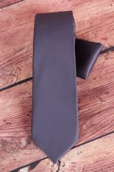 Pánska kravata s vreckovkami (š. 7 cm) - tmavosivá