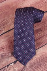 Pánska kravata VZOR 1. - tmavomodrá (š. 7,5 cm)