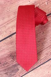 Pánska kravata VZOR 4. - červená (š. 6 cm)