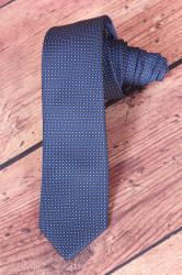 Pánska kravata VZOR 5. - tmavomodrá (š. 6 cm)