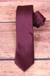 Pánska kravata vzorovaná - bordová