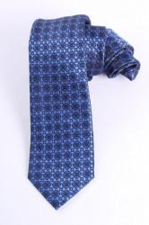 Pánska kravata vzorovaná (š. 7 cm) - kráľovská modrá