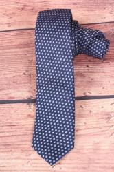 Pánska kravata vzorovaná - tmavomodrá