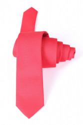Pánska kravata žakárová - červená (š. 5 cm)