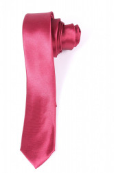 Pánska lesklá kravata (š. 5 cm) - bordová
