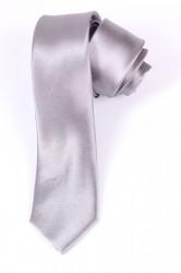 Pánska lesklá kravata (š. 5 cm) - sivá