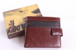 Pánska peňaženka - červeno-hnedá (A329-209-15) (10x11 cm)