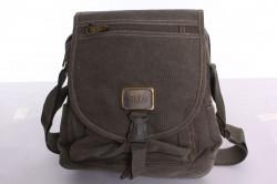 Pánska plátená taška cez plece AOKING (T311) - zelená (26x30x8 cm)