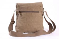 Pánska plátená taška cez plece (TD44235) - piesková (22x26x8 cm) #1