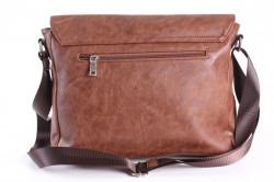 Pánska športová taška cez plece 11976 (33x27x11 cm) - hnedá #1