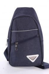 Pánska športová taška cez plece (9355) - modrá(16x29x7 cm)