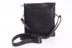 Pánska taška cez plece (17x18,5x5 cm) - čierna #1