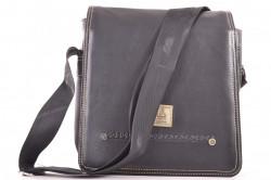 Pánska taška cez plece (24x25x7 cm) - čierna č. 2