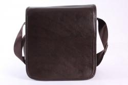 Pánska taška cez plece (25x25x7 cm) - tmavohnedá