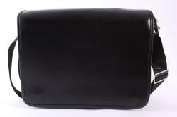 Pánska taška cez plece (28x23x7 cm) - čierna