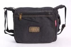 Pánska taška cez plece ORMI (0200) - sivo-čierna (21x20x8 cm)