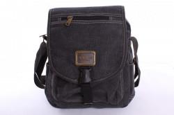 Pánska taška cez plece (T311) - sivo-čierna (30x25x8,5 cm)