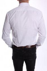 Pánska vzorovaná košeľa PIETRO MONTI VZOR 001. CLASSIC - biela #1