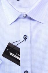 Pánska vzorovaná košeľa s krátkym rukávom MARTEX SLIM LINE - bledomodrá #1