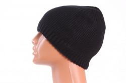 Pánska zateplená čiapka (18-168) - čierna