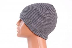 Pánska zateplená čiapka (18-168) - sivá