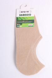 Pánske bambusové členkové ponožky FD308 - béžové