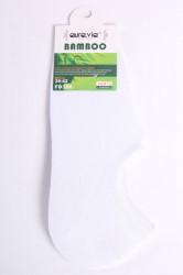 Pánske bambusové členkové ponožky FD308 - biele