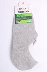 Pánske bambusové členkové ponožky FD308 - bledosivé