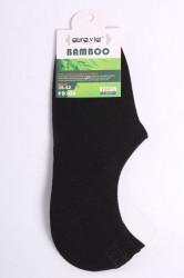 Pánske bambusové členkové ponožky FD308 - čierne