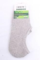 Pánske bambusové členkové ponožky FD308 (v. 39-42) - bledosivé