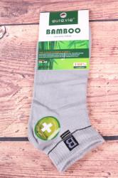 Pánske bambusové členkové ponožky FFD1951 - bledosivé