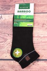 Pánske bambusové členkové ponožky FFD1951 - čierne