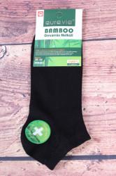 Pánske bambusové členkové ponožky FFD281 - čierne