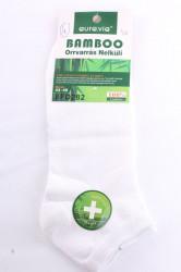 Pánske bambusové členkové ponožky FFD282 (v. 43-46) - biele