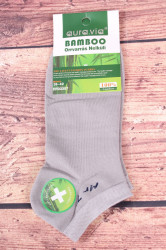 Pánske bambusové členkové ponožky FFD3357 - bledosivé