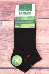 Pánske bambusové členkové ponožky FFD3357 - čierne