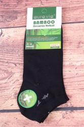Pánske bambusové členkové ponožky FFD3357 - tmavomodré