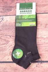 Pánske bambusové členkové ponožky FFD3357 - tmavosivé