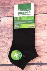 Pánske bambusové členkové ponožky FFD3361 - čierne