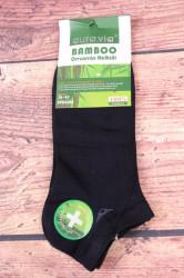 Pánske bambusové členkové ponožky FFD3361 - tmavomodré