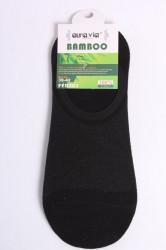 Pánske bambusové členkové ponožky FFD383 - čierne