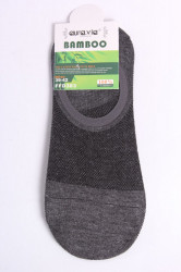 Pánske bambusové členkové ponožky FFD383 - sivé