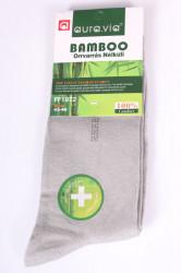 Pánske bambusové ponožky (FF1972) - bledosivé