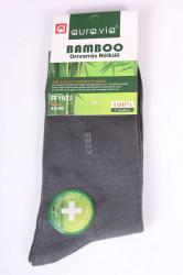 Pánske bambusové ponožky (FF1972) - sivo-zelené