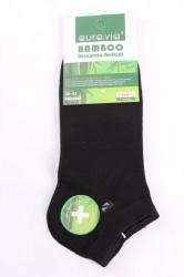 Pánske bambusové ponožky (FFD3367) - čierne