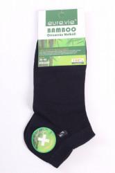 Pánske bambusové ponožky (FFD3367) - tmavomodré