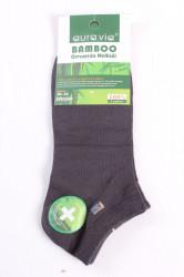Pánske bambusové ponožky (FFD3367) - tmavosivé